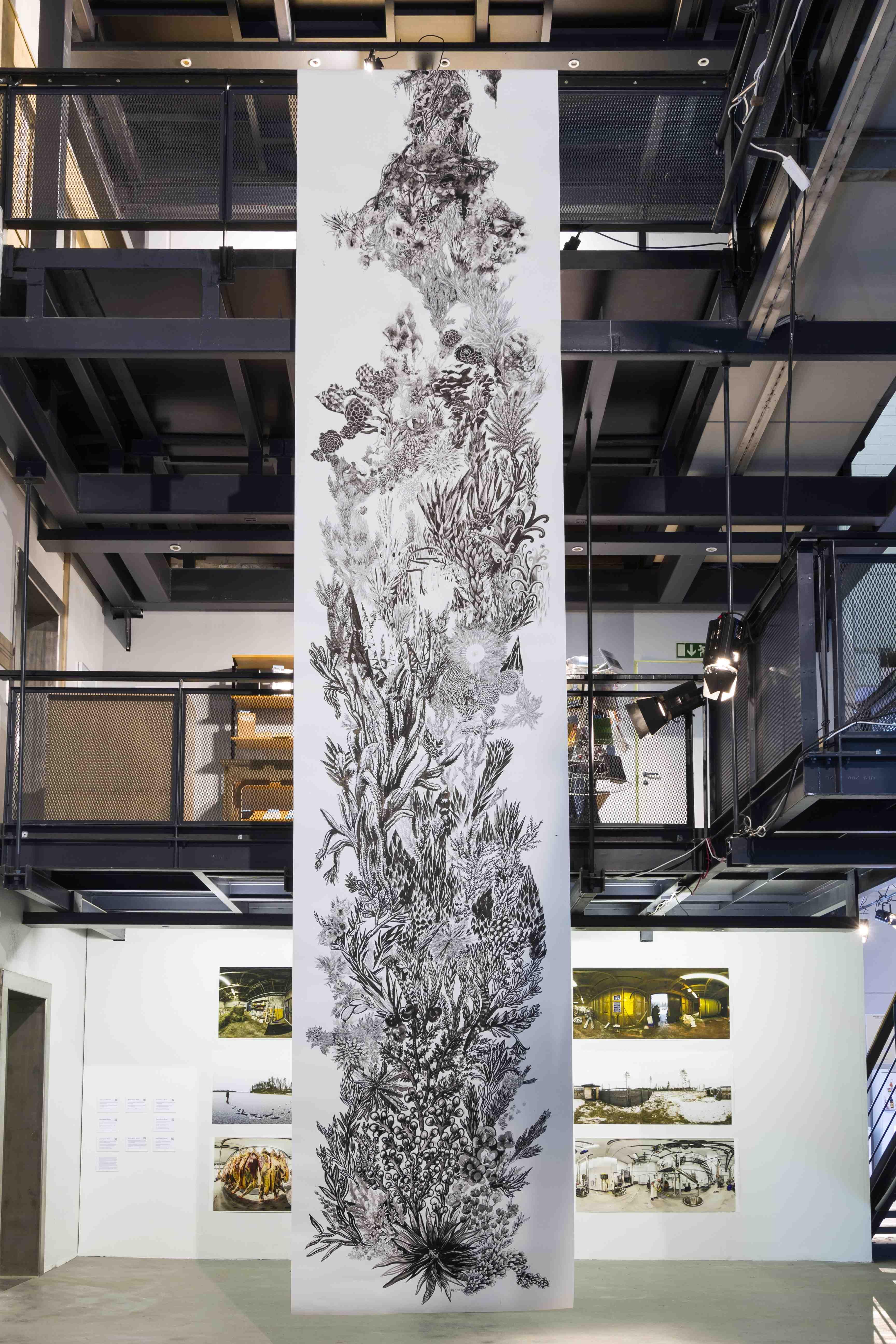 Art Central - Dwi Setiant, Growth, 2016, Mixed Media, 12m x 3.5H Sin Sin Fine Artlr