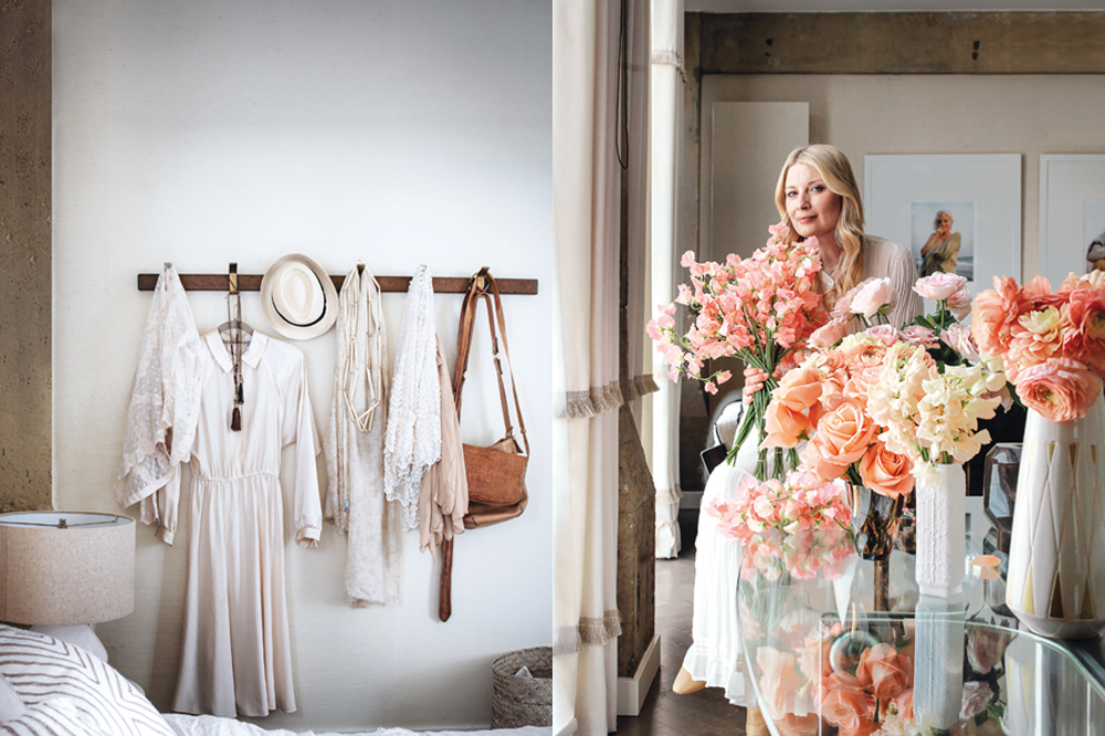Hayley's fashion sense is as romantic as her floral arrangements. The florist, stylist and interior designer poses with bountiful bouquets.