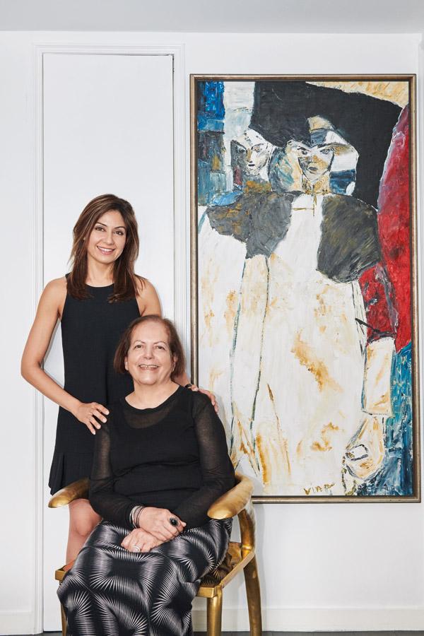 Amrita and her mother, artist Veena Mohan