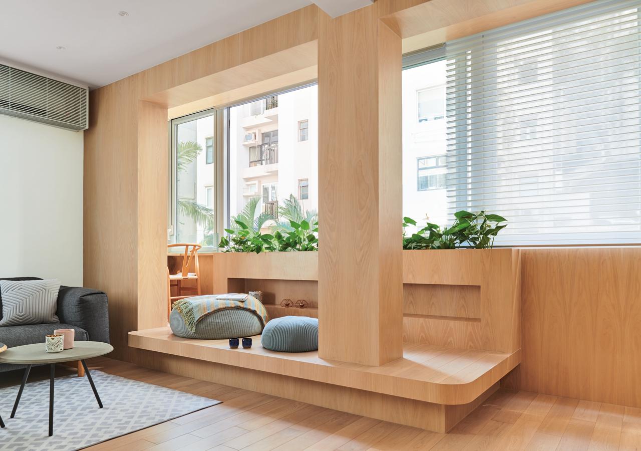 Bean Buro為屋主打造共聚天倫的木平台