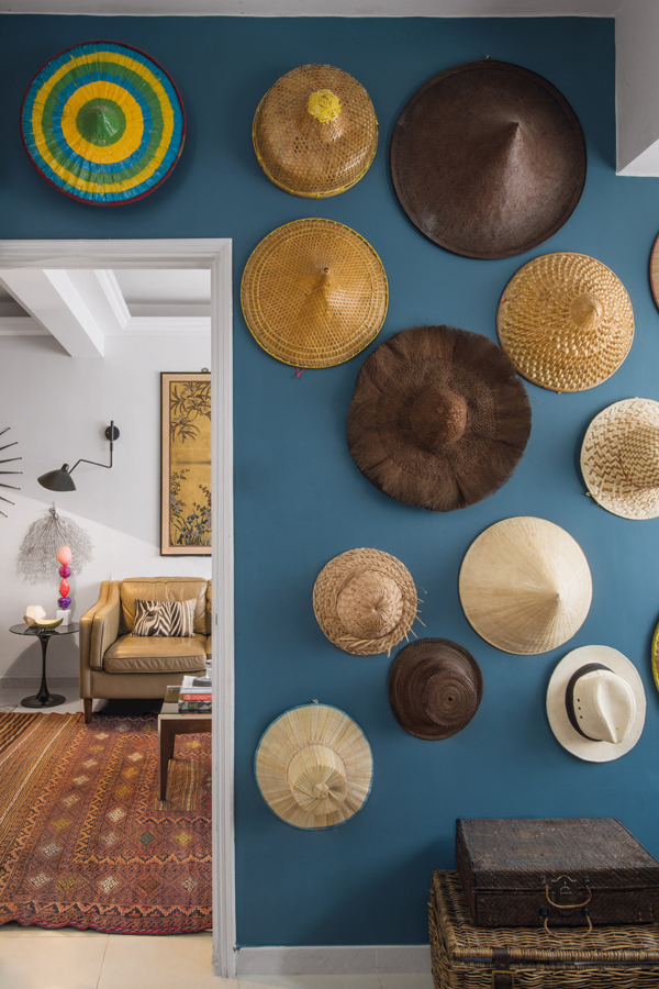 For Ana de Olazabal, head of image and style at Indigo Living, the hats she's collected over the years bring back memories of different destinations and people. (Photo: Edgar Tapan)