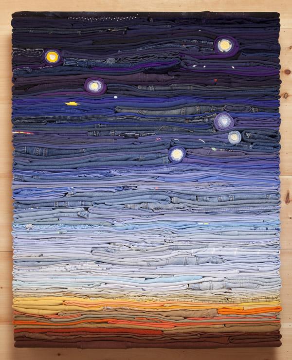 Derick Melander's 2016 work, Night Sky, inspired by New York City