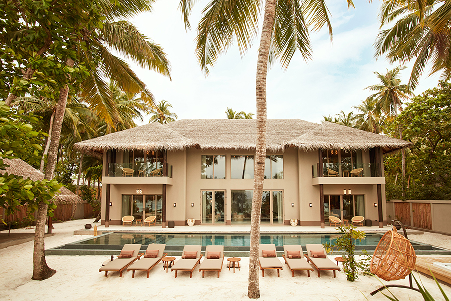 JOALI's four-bedroom beach residence with an outdoor pool.