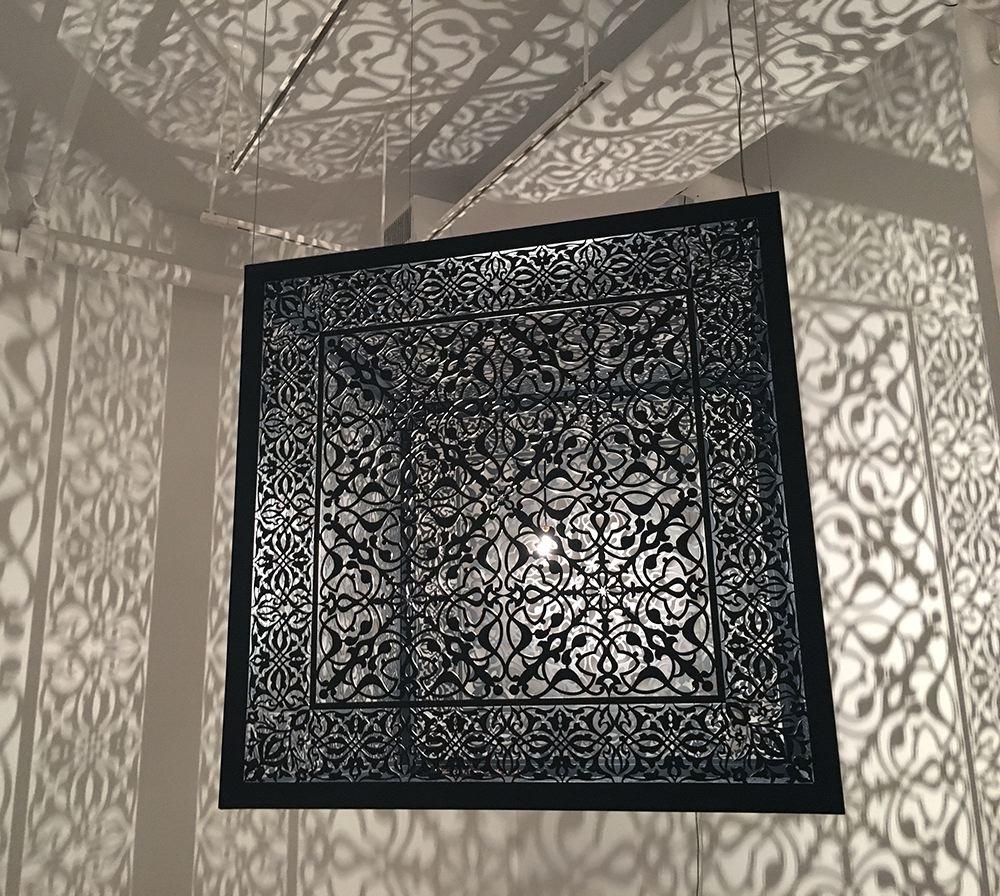 Anila Quayyum Agha,Shimmering Mirage, Sundaram Tagore Gallery