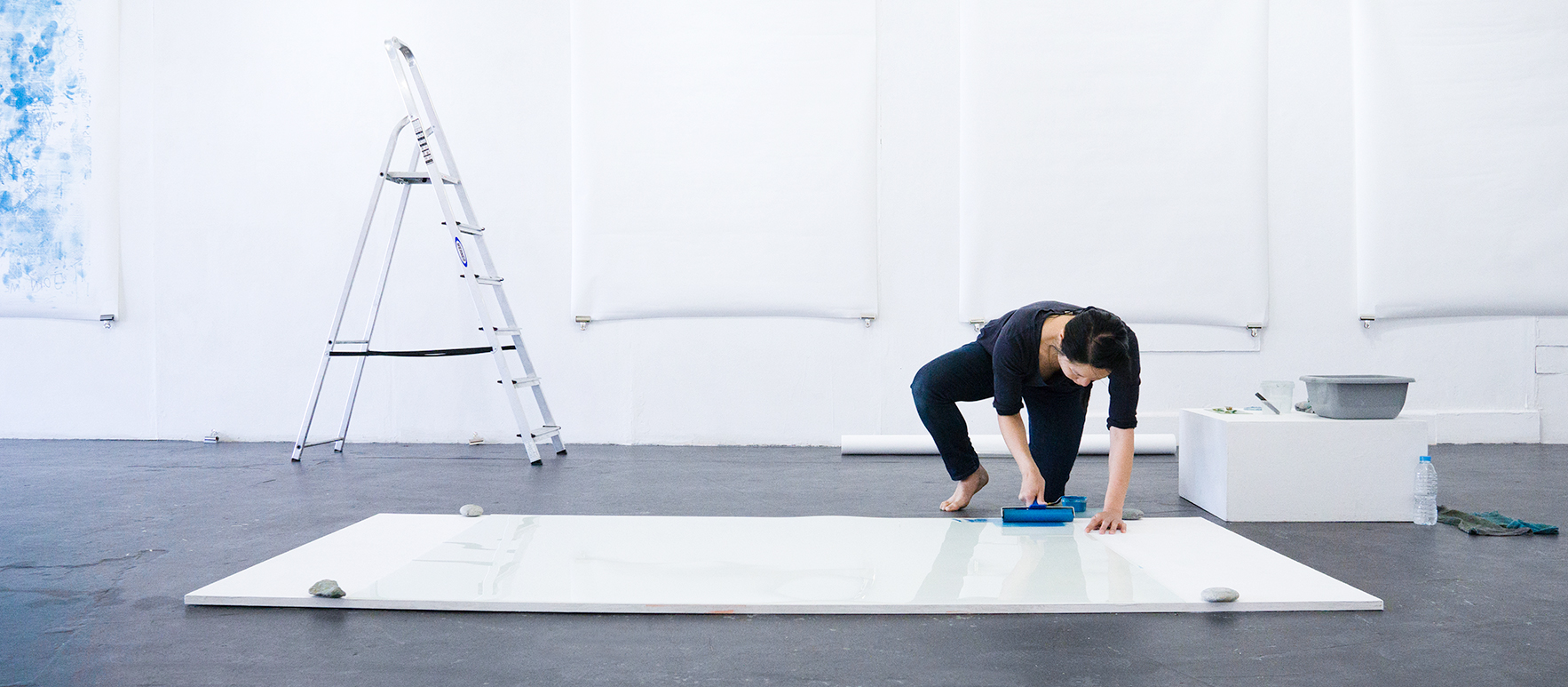Artist Bettina Fung in action