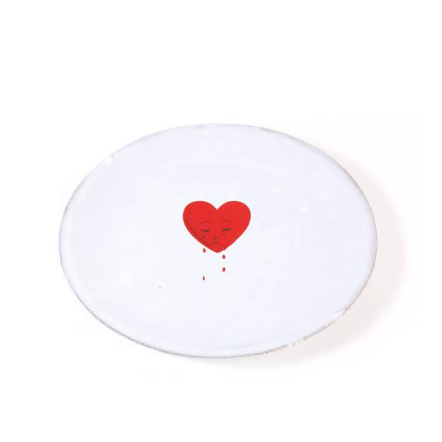 Astier de Villatte's Crying Heart saucer, available from kapok
