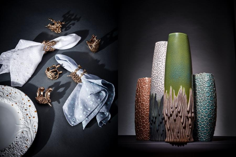 The collection reimagines every category that L'Objet offers, spanning tableware, home décor, textiles and fragrance