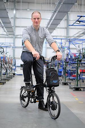 Will Carleysmith, chief design and engineering officer at Brompton Bicycle. (Photo: Courtesy of Brompton Bicycle)