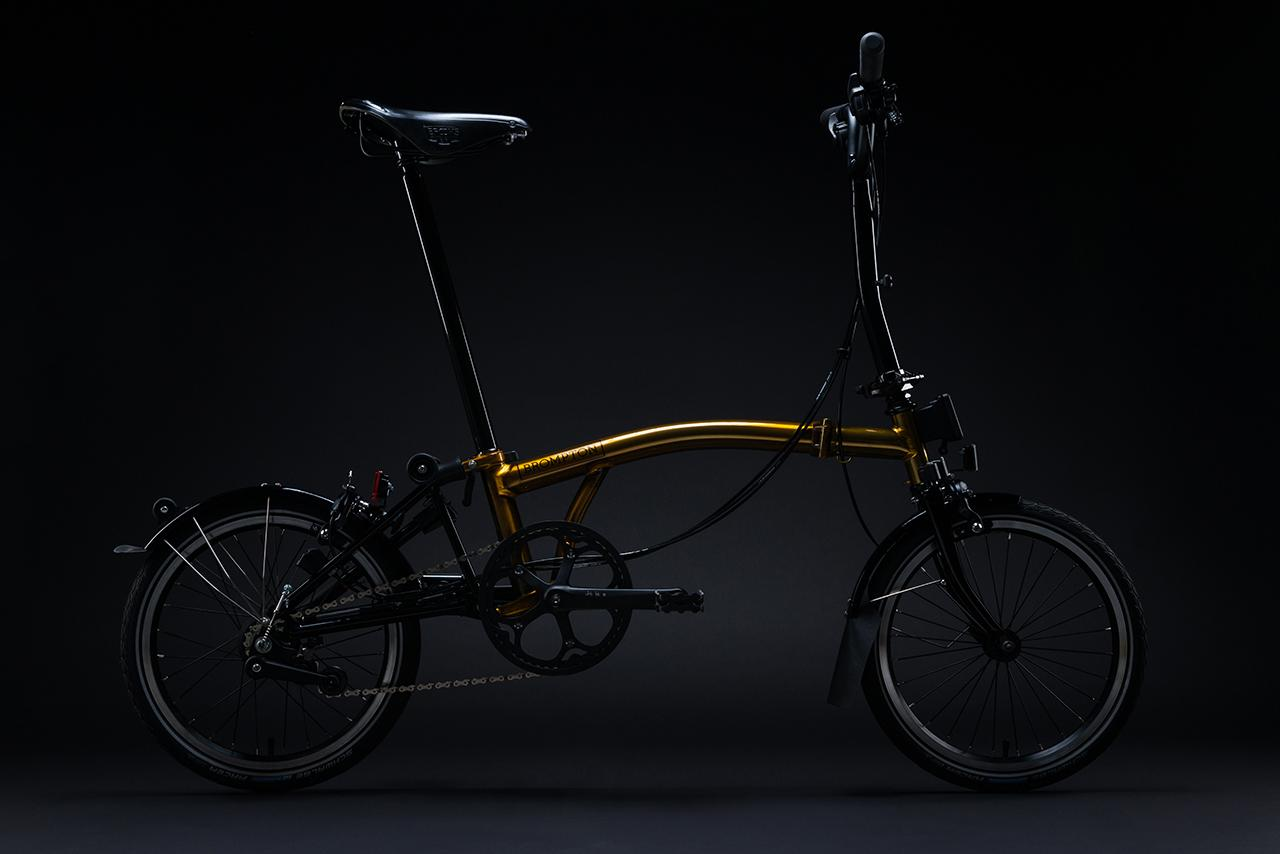 The 20 Years in Asia Gold Edition from Brompton Bicycle. (Photo: Courtesy of Brompton Bicycle)