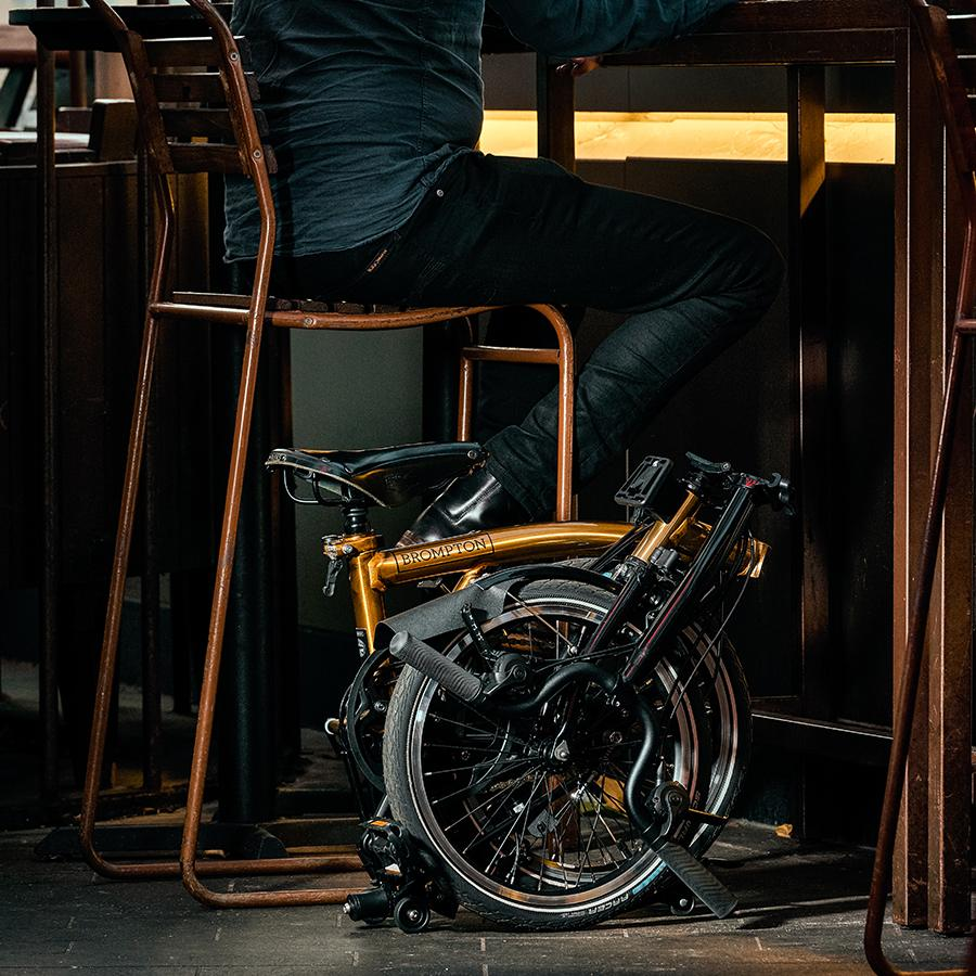 Only 85 of these gold bikes are available to cult fans of the brand and avid cyclists in Hong Kong and Macau. (Photo: Courtesy of Brompton Bicycle)