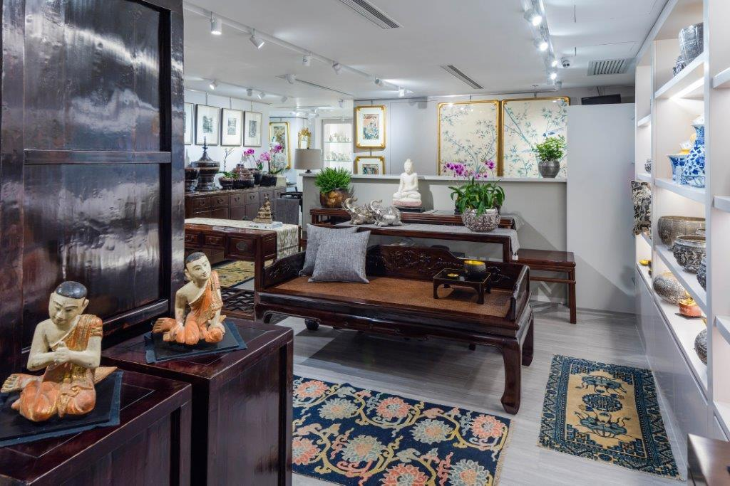 Art and furniture intermingle to present ideas for the home