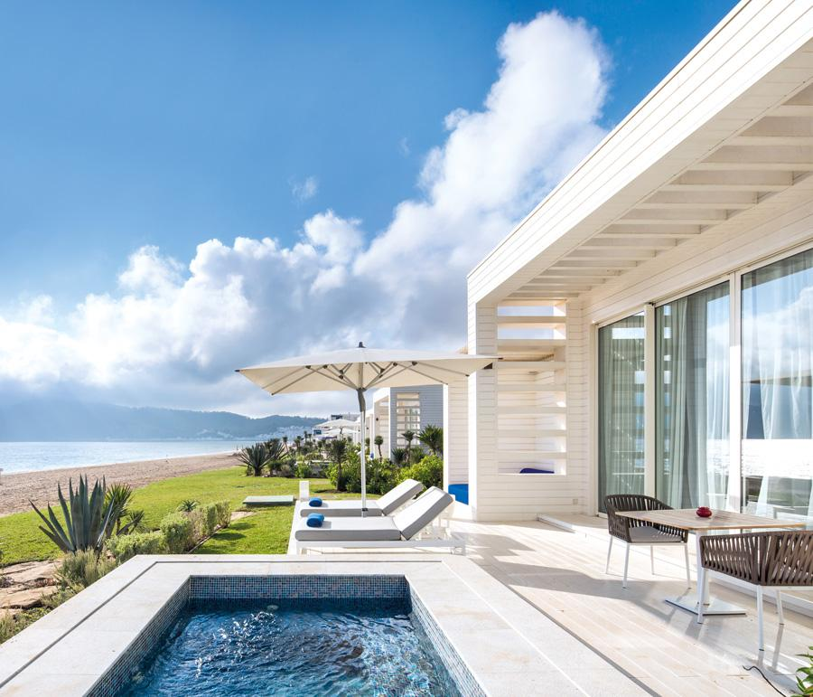 The private pool comes replete with magnificent sea views