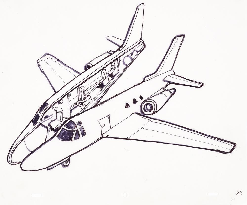 Hand-drawn sketches of Roman Stańczak