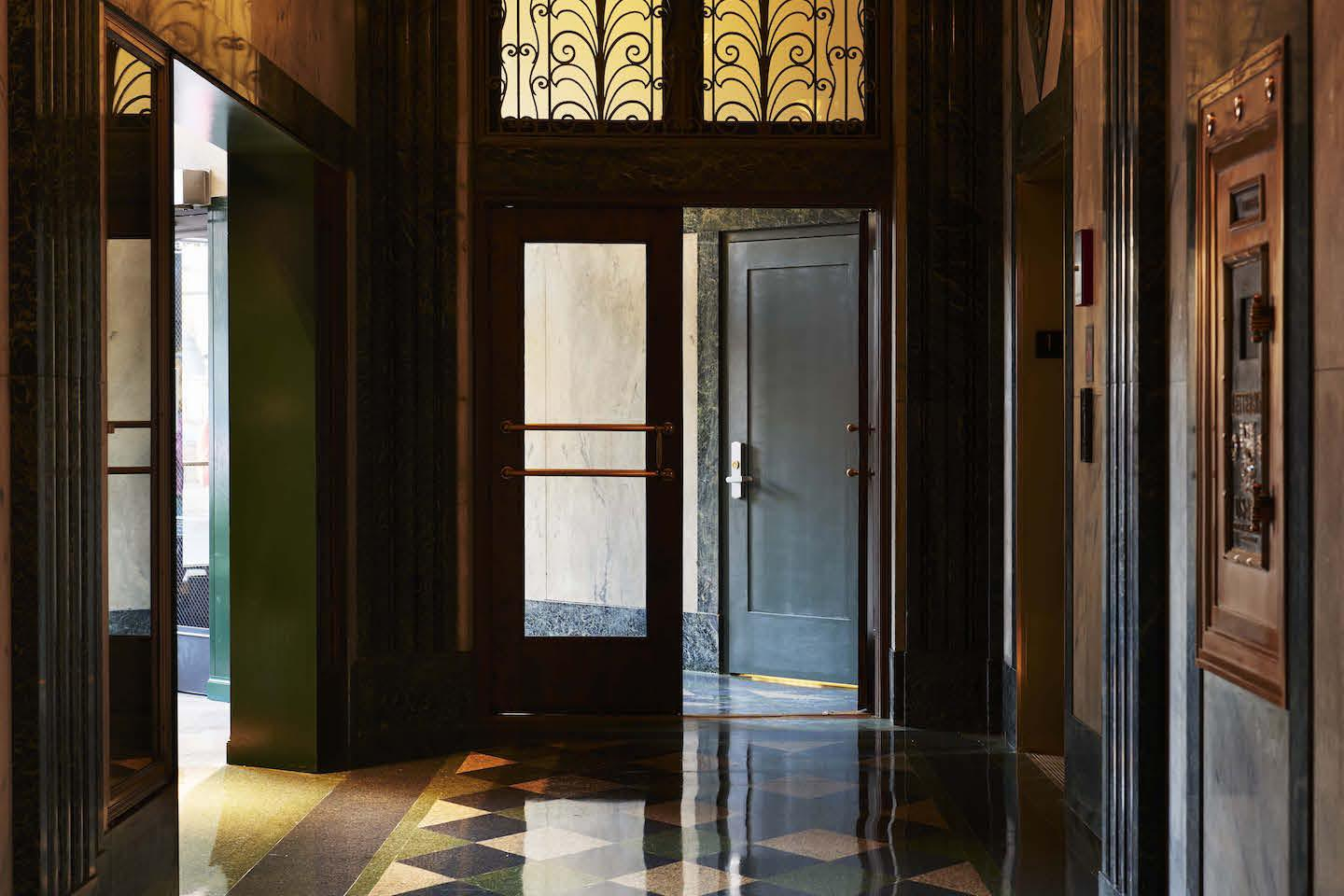 The Robey entryway (Photography: Adrian Gaut)