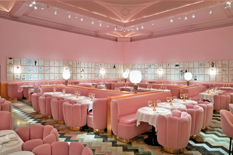 The Gallery boasts lush candyfloss-hued decor