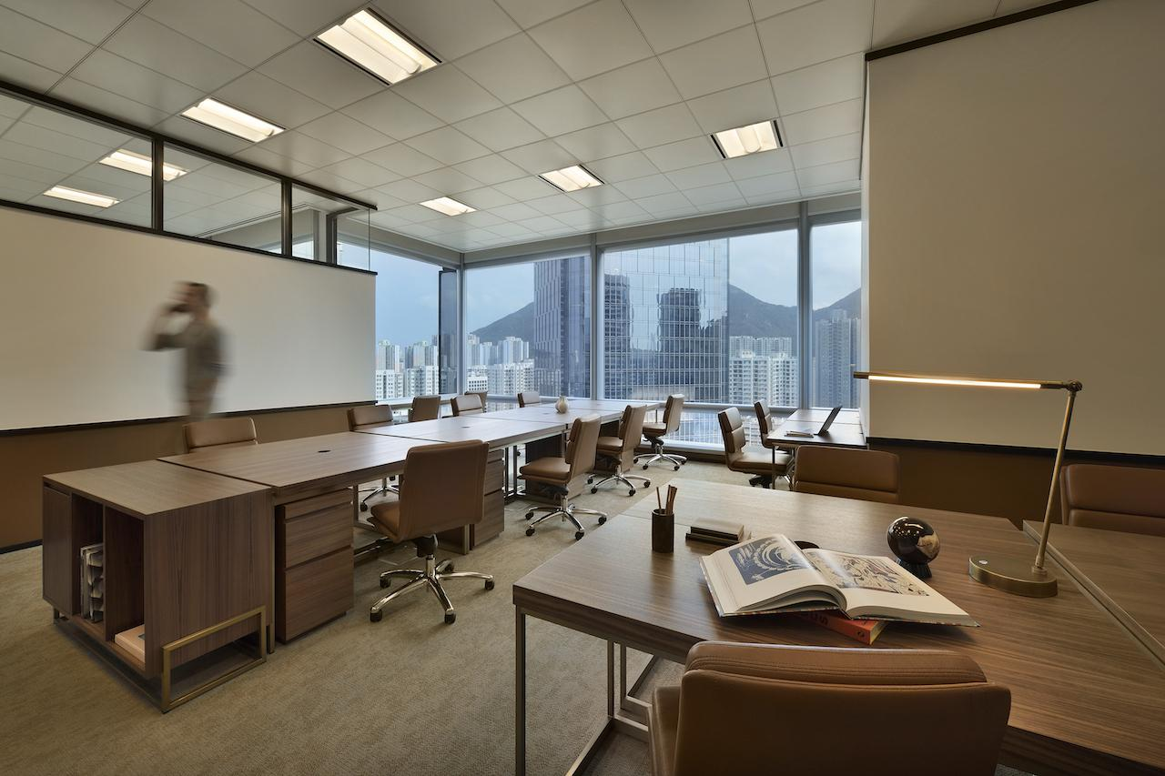 A look at an office space at The Great Room, Hong Kong
