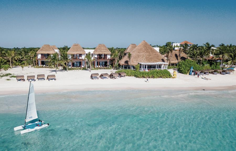 Hotel Esencia on Riviera Maya is among a string of new trendy hotels adorning the Mexican coast
