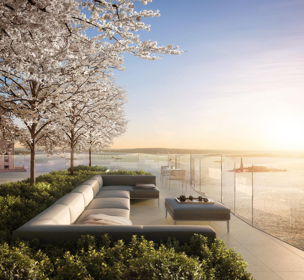 The private rooftop of One Wall Street. It is set to be a fabulous addition to the Financial District
