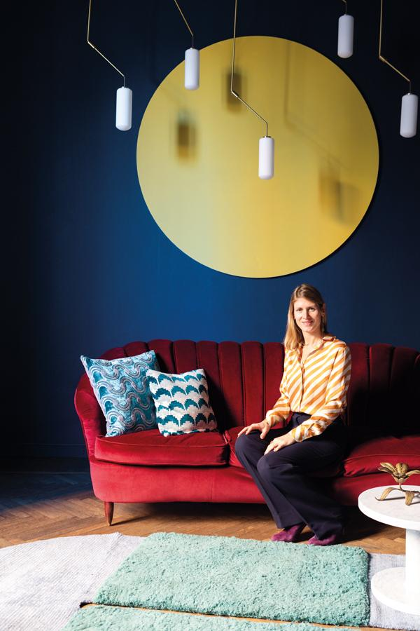 Sophie handpicked every decoration within the eclectic showroom that also serves as her home