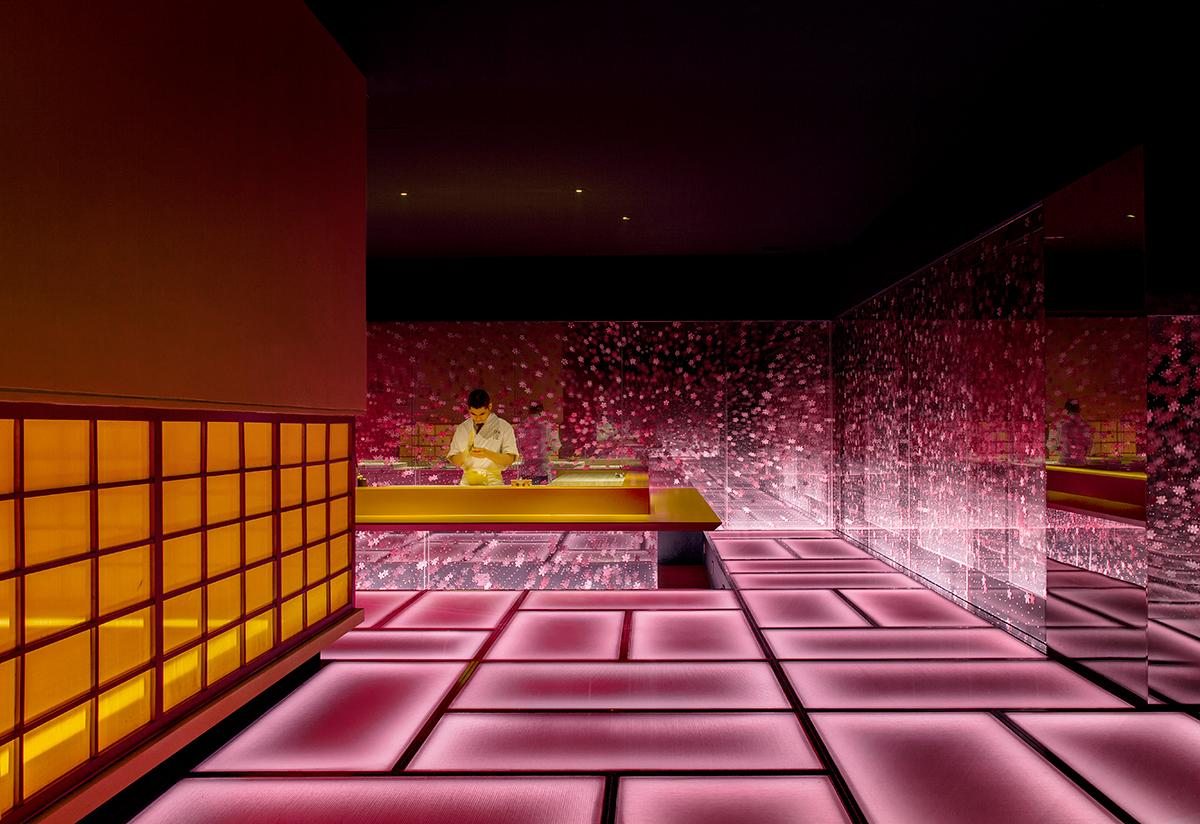 The sushi bar on the first floor. (Photo: Courtesy of Shanghai Hip-pop Design)