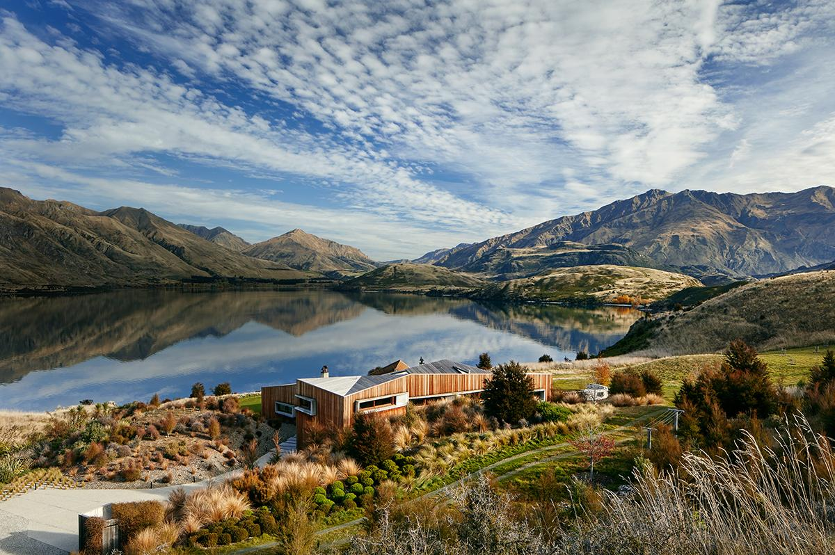 The gorgeous Te Kahu property in Wanaka, New Zealand, with beguiling views all around. (Photo: Courtesy of AirBnb)