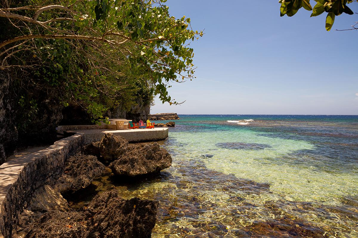 Seaside views from the Fleming Villa in Oracabessa, Jamaica. (Photo: Courtesy of AirBnb)