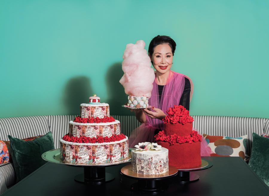 """I'm a very visual person; I've been trained that way,"" says Bonnae, pictured with a range of Sevva's one-of-a-kind, meticulously crafted couture cakes"