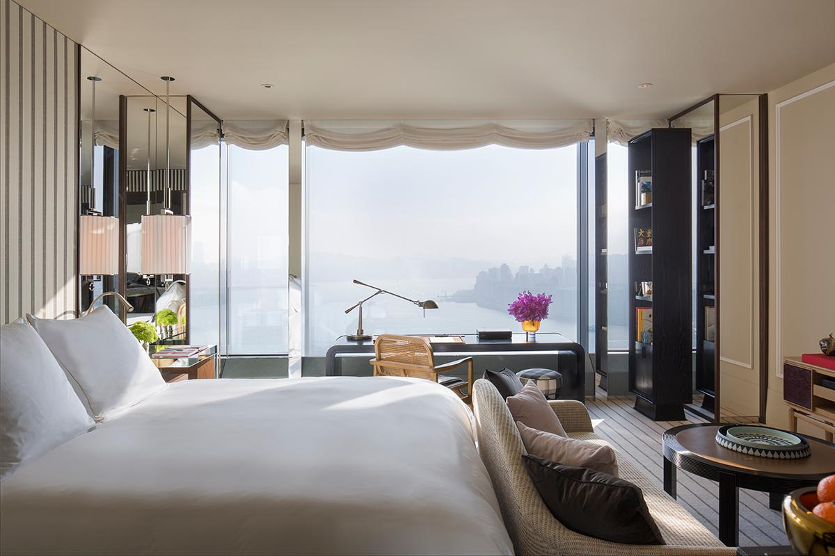 The studio bedroom. (Photo: Courtesy of Rosewood Hong Kong)