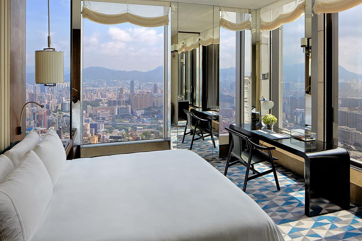 The Beacon Hill Penthouse bedroom. (Photo: Courtesy of Rosewood Hong Kong)