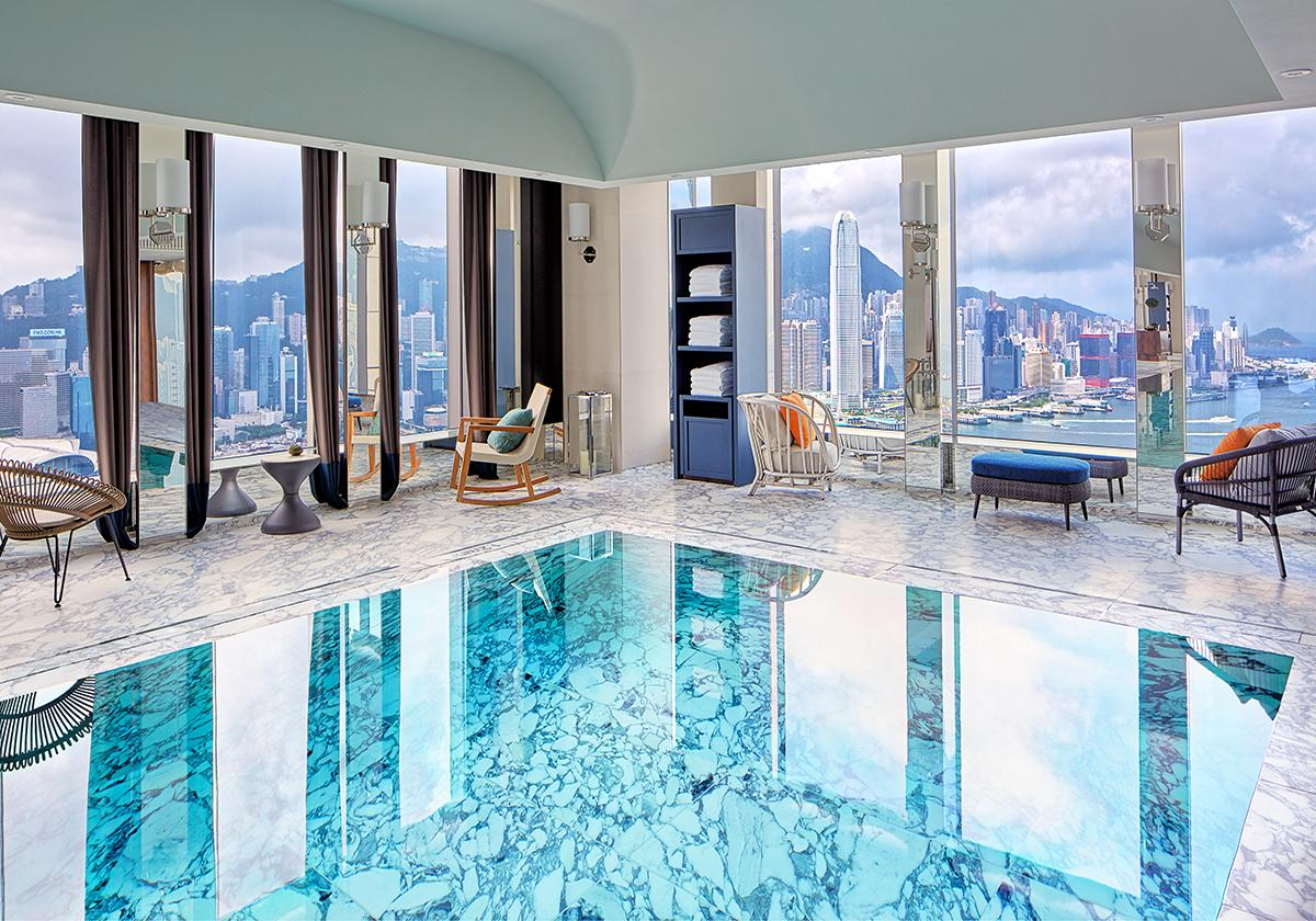 The heated lap pool in Club 53. (Photo: Courtesy of Rosewood Hong Kong)
