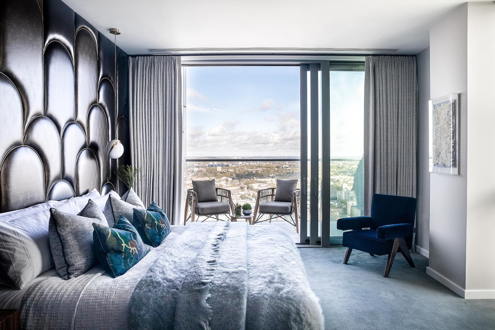 This Vibrant Art Deco-Style Penthouse Sits Atop London's Tallest Residential Building