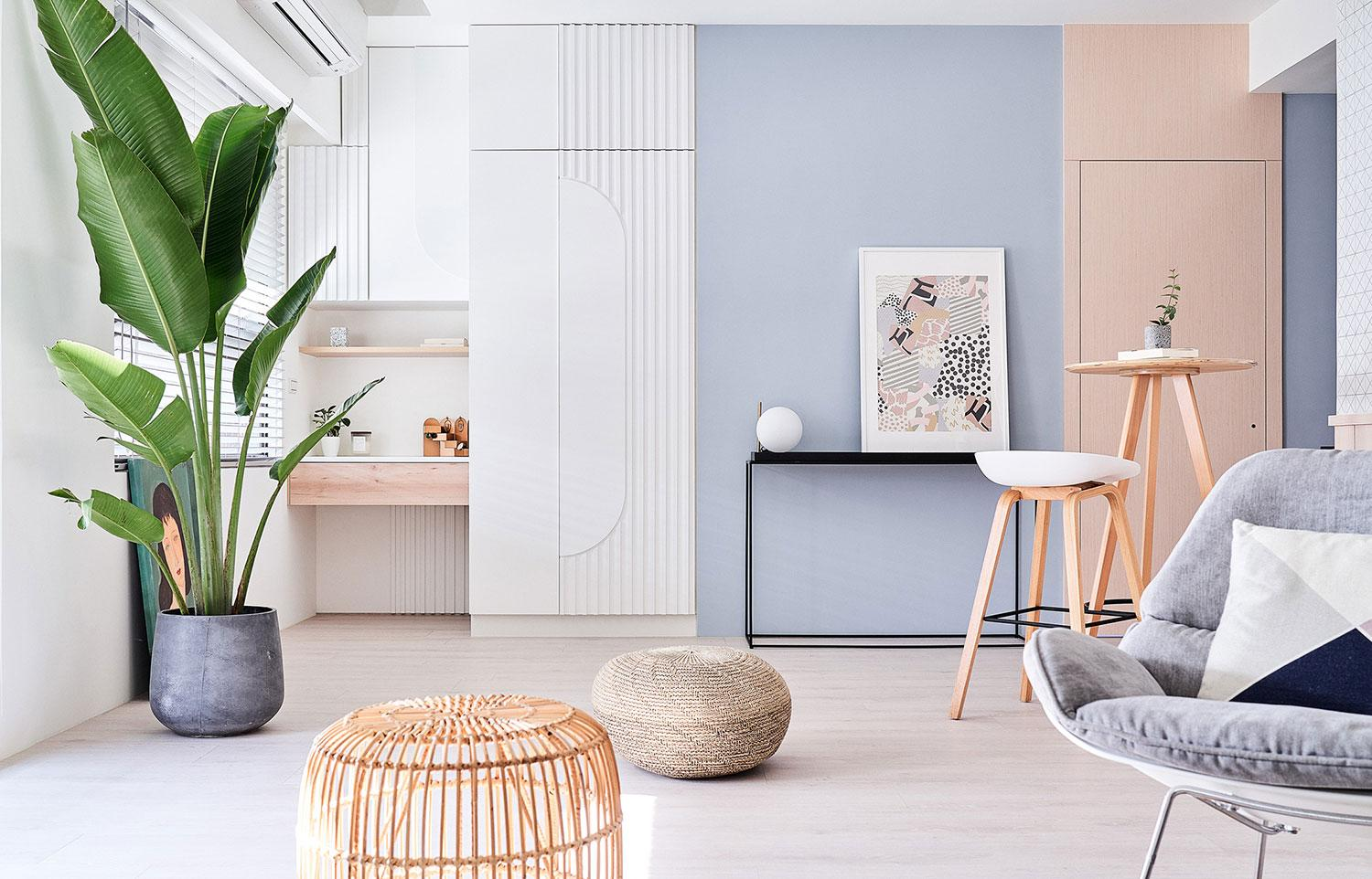 Step Inside a Whimsical Taiwan Apartment Inspired by Soft Rainbow Hues