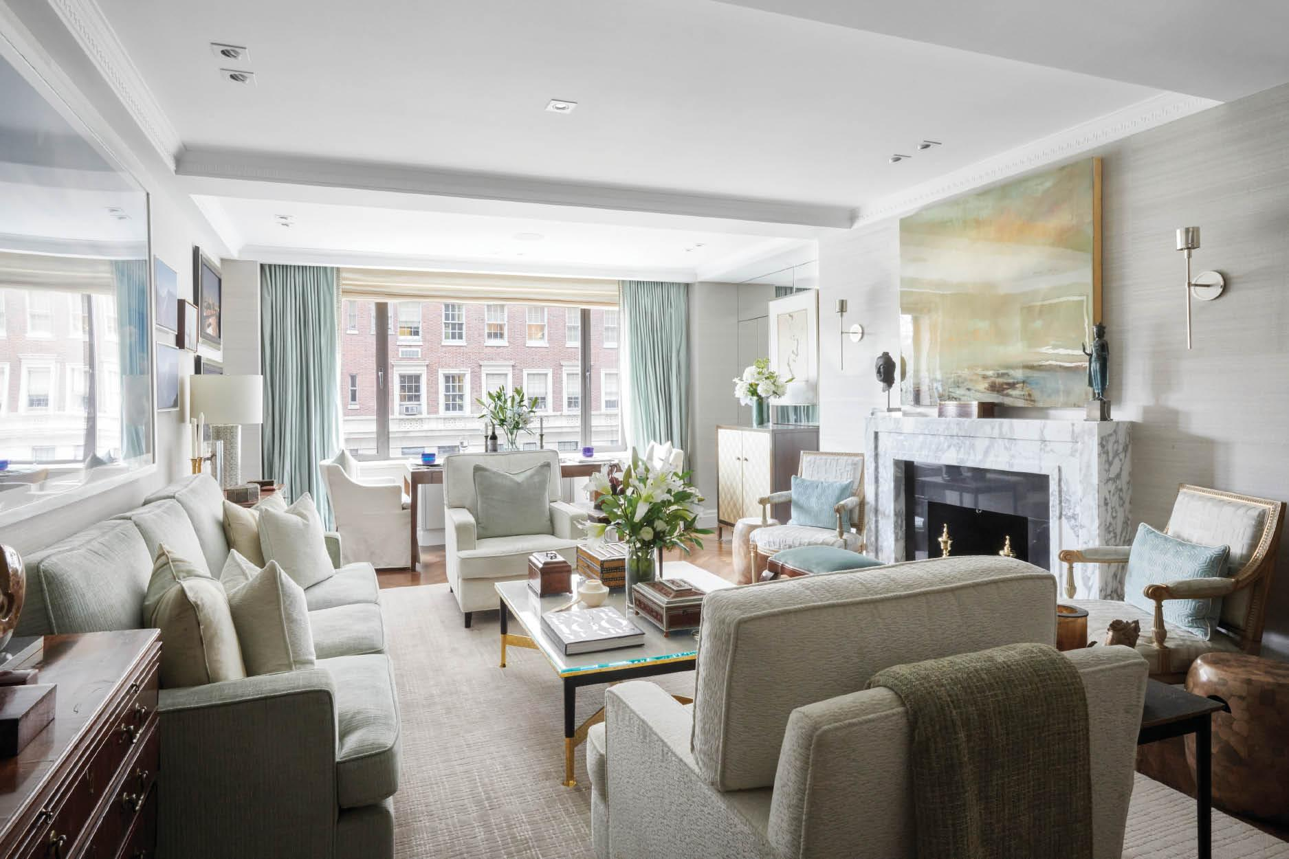 Sumptuous Textiles and Art Weave the Fabric of this Charming New York Home