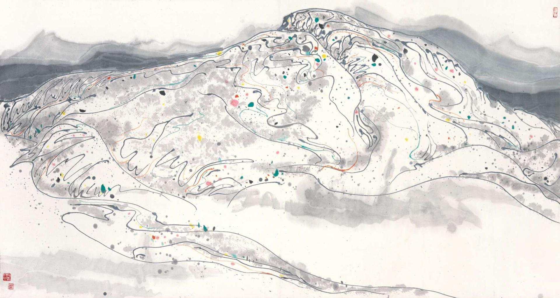 Vibrancy of Mountains by Wu Guanzhong